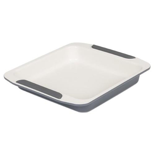 Viking Ceramic Coated Non-Stick Square Cake Pan 9-inch Cream/ Grey
