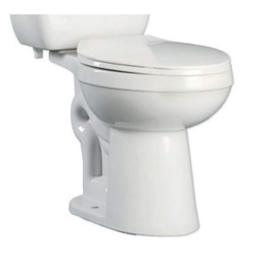 ProFlo PF9803 Ultra High Efficiency 0.8 Two-Piece Elongated ADA Height Toilet Bowl - Less Seat