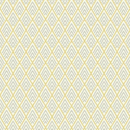 Sample Chalet Wallpaper in Yellow and Grey design by York Wallcoverings