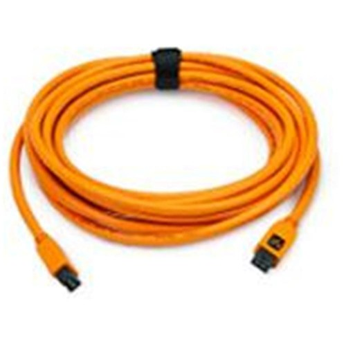 Tether Tools 15' (4.6 m) TetherPro FireWire 800 9-Pin to 9-Pin Cable, Orange