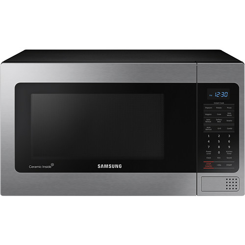 Samsung - 1.1 Cu. Ft. Countertop Microwave - Stainless steel
