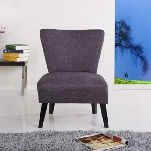 Container Alice Fabric Slipper Chair; Grey