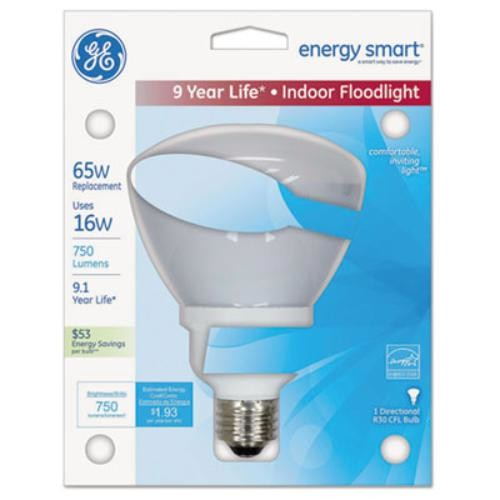 Sli Lighting 20708 Energy Smart Indoor Floodlight Fluorescent Light Bulb, R30, 750 Lm, Soft White