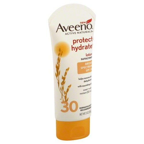 Aveeno Active Naturals Sunscreen Lotion, Protect + Hydrate, Broad Spectrum SPF 30, 3 oz (85 g)