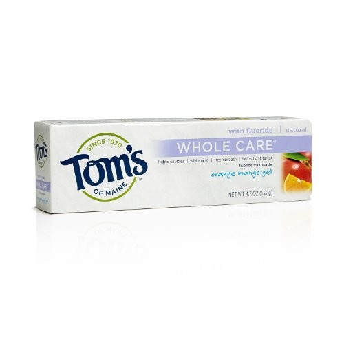 Tom's of Maine Natural Whole Care Toothpaste with Fluoride, Cinnamon Clove, 3 Count [Cinnamon Clove]