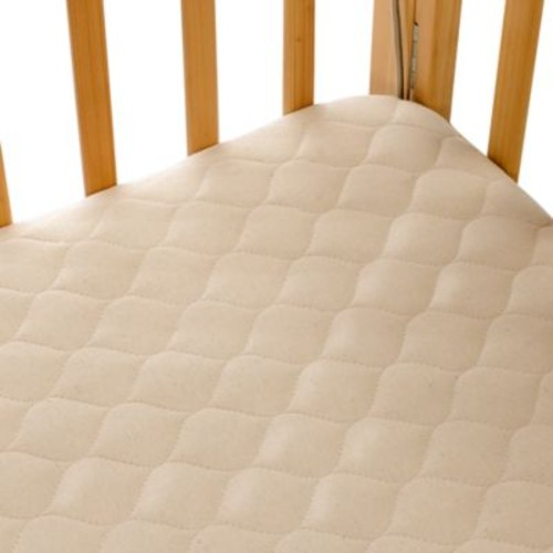 TL Care Portable/Mini Crib Size Fitted Mattress Cover Made with Organic Cotton in Natural
