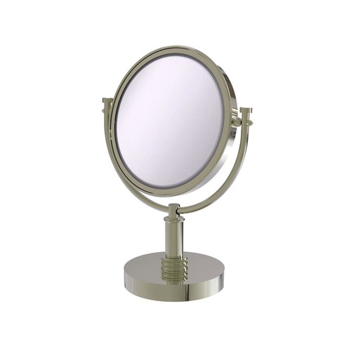 Allied Brass 8 in. x 15 in. Vanity Top Make-Up Mirror 4x Magnification in Polished Nickel