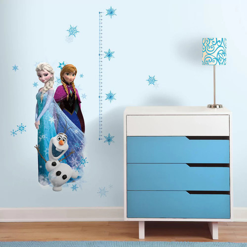 Disney's Frozen Elsa, Anna & Olaf Peel & Stick Growth Chart Wall Decal Set