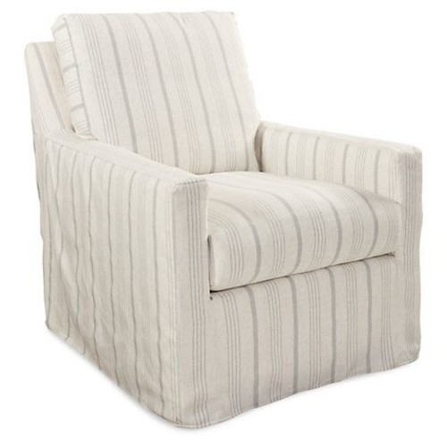 Lindsay Swivel Chair, Gray Stripe