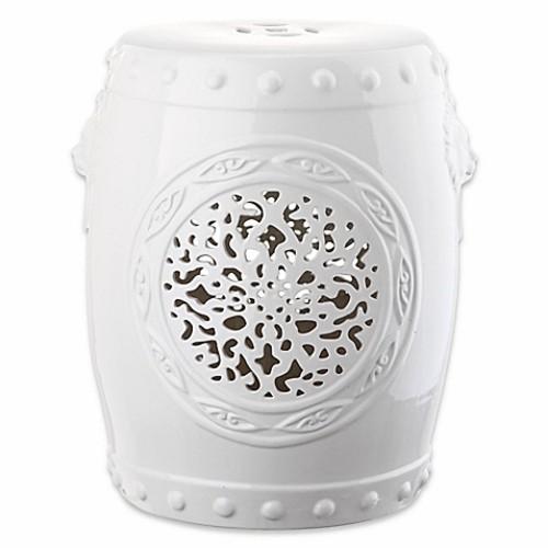 Safavieh Flower Drum 17-Inch Garden Stool in White