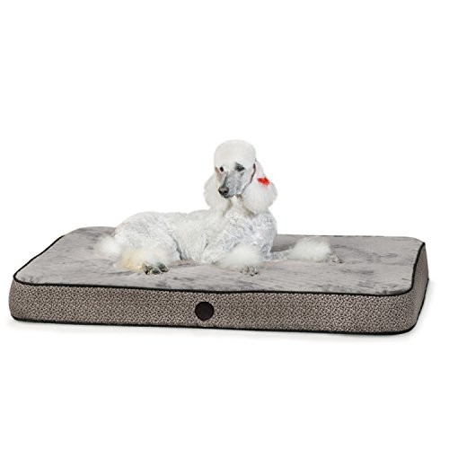 K&H Pet Products Orthopedic Superior Pet Bed [Gray Paw Bone Print, Large(40