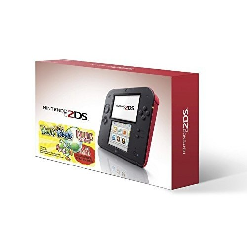 Nintendo 2DS Red Console with Yoshi's New Island Game