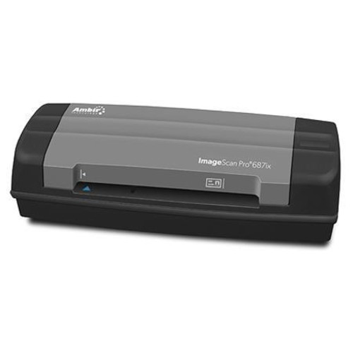Ambir ImageScan Pro 687ix Duplex Card Scanner with AmbirScan Software DS687IX-AS