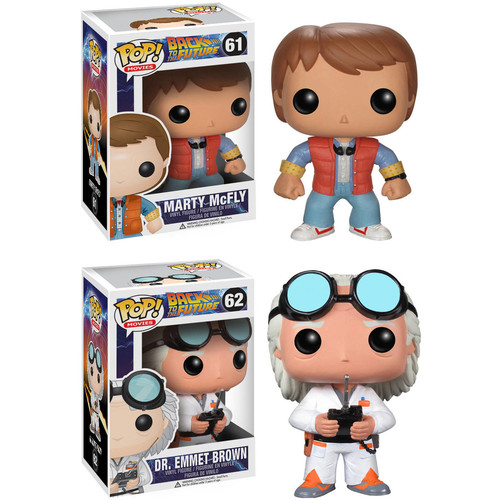 Funko Back to the Future Pop! Movie Vinyl Collectors Set: Doc Emmet Brown & Marty McFly