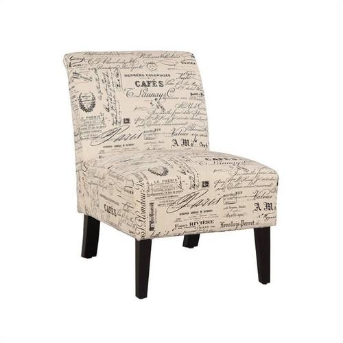 Linon Lily Chair in Script