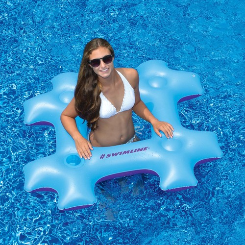 Swimline #Hashtag 47-in Inflatable Pool Float