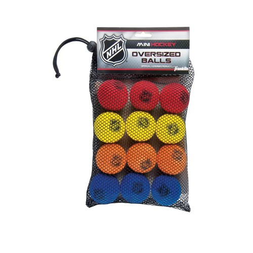 Franklin Sports NHL Foam Mini Hockey Balls-12 Pack