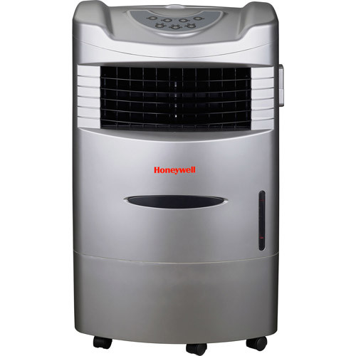 Honeywell CL201AE 470 CFM Indoor Evaporative Air Cooler (Swamp Cooler) with Remote Control in Silver
