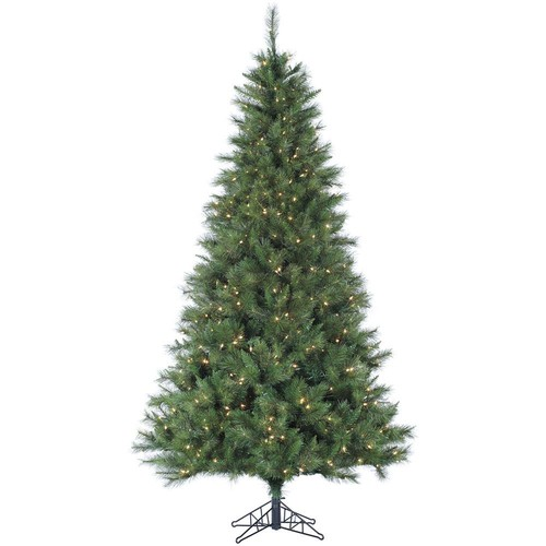 Fraser Hill Farm 6.5 ft. Pre-Lit Canyon Pine Artificial Christmas Tree with 400 Clear Smart String Lights