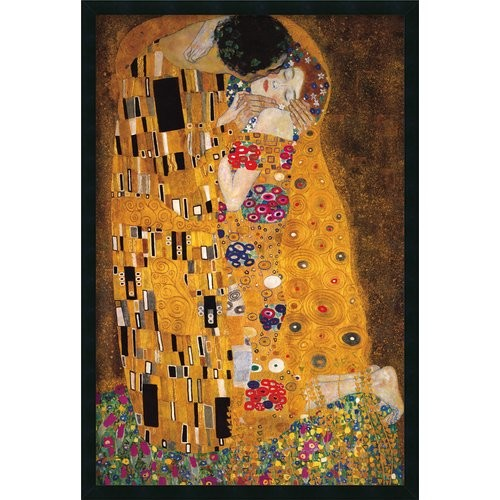 Gustav Klimt 'The Kiss (Le Baiser / Il Baccio) 1907' Gel-Textured Art Print