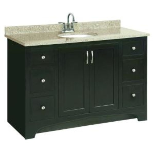 Design House Ventura 48 in. W x 21 in. D Unassembled Vanity Cabinet Only in Espresso