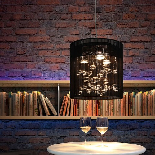 Subatomic Black Ceiling Lamp