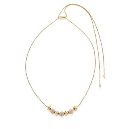Brilliance Pav Beaded Necklace/Rose Goldtone