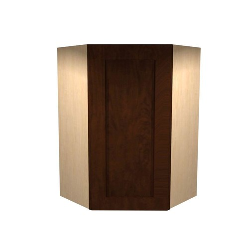 Home Decorators Collection Franklin Assembled 24x36x12 in. Single Door Hinge Left Wall Kitchen Angle Cabinet in Manganite