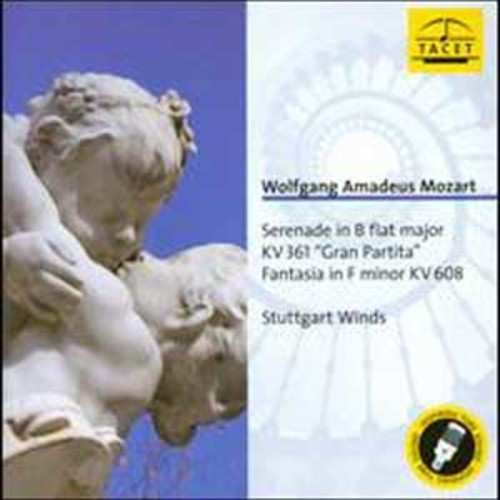 Mozart: Serenade in B flat major, KV 361 Gran Partita ; Fantasia in F minor, KV 608 By Stuttgart Wind Ensemble (Audio CD)