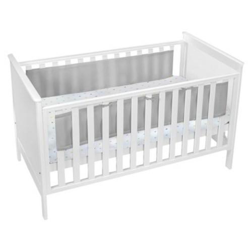 BreathableBaby Mesh Crib Liner - Solid - Gray