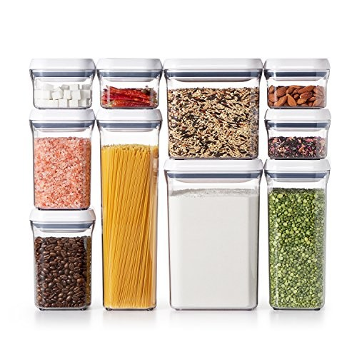 OXO Good Grips 10-Piece Airtight Food Storage POP Container Value Set [Standard Packaging]