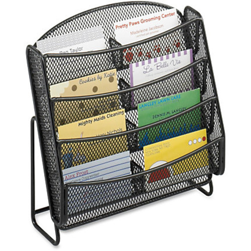 Safco Steel Mesh 8-Compartment Bus. Card Holder - 8.8