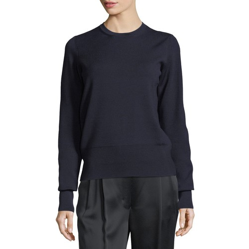 THE ROW Senni Wool Crewneck Sweater, Black