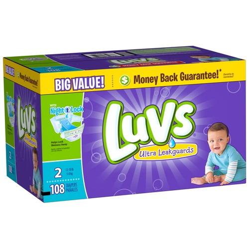 Luvs Ultra Leakguards Diapers with Night Lock [Number Included : 34]