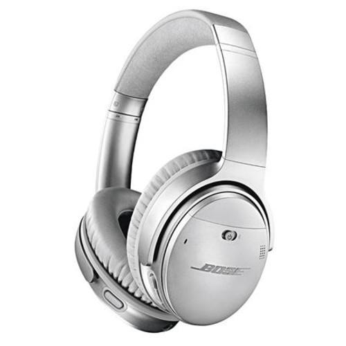 Bose QuietComfort 35 Wireless Headphones II with Mic Silver W/ Lightning Ad
