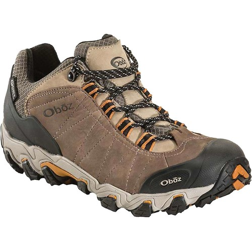 OBOZ Mens Bridger Low BDry Hiking Shoes, Walnut