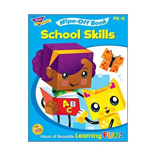 Trend Enterprises School Skills Wipe-Off Book(28 Pages) (1 Piece)