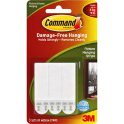 Command 3m - 3 Picture Hanging Strips, Medium