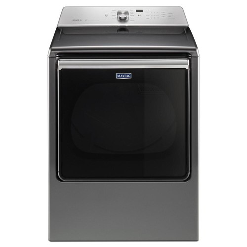 Maytag 8.8 cu. ft. 120 Volt Chrome Shadow Gas Vented Dryer with Advance Moisture Sensing