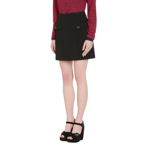 PRADA Virgin Wool A-Line Skirt