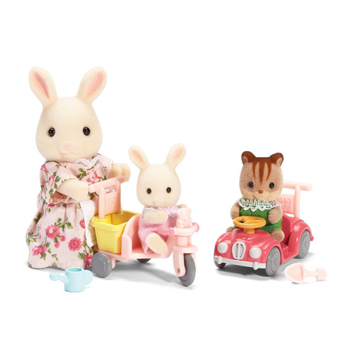 Calico Critters of Cloverleaf Corners - Apple and Jake's Ride 'n Play