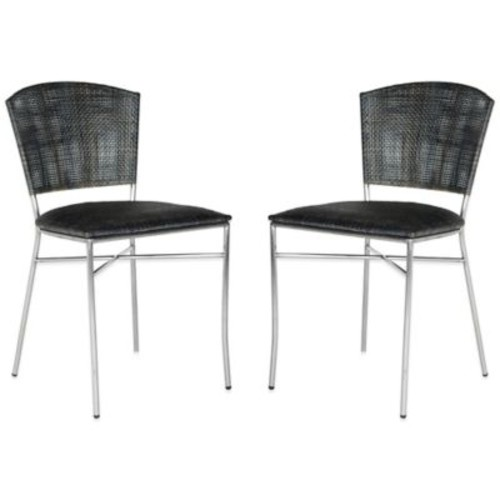 Safavieh Melita Side Chairs in Black (Set of 2)
