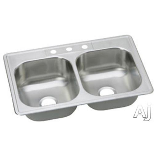 Elkay Dayton Drop in Steel 22.000 33.000 Kitchen Sink Satin DSE233221
