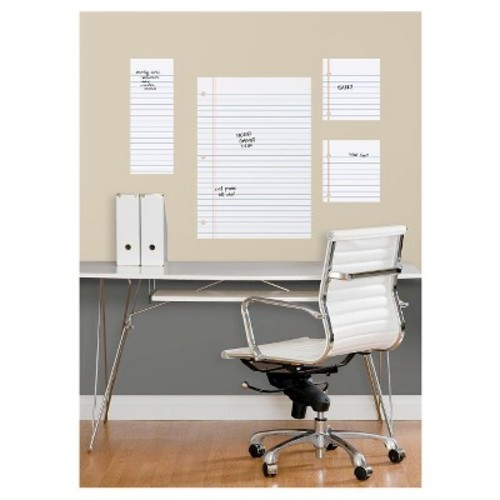 RoomMates Notebook Paper Dry Erase Peel and Stick Giant Wall Decals