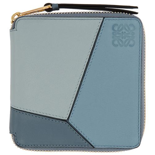 LOEWE Blue Small Puzzle Zip Around Wallet