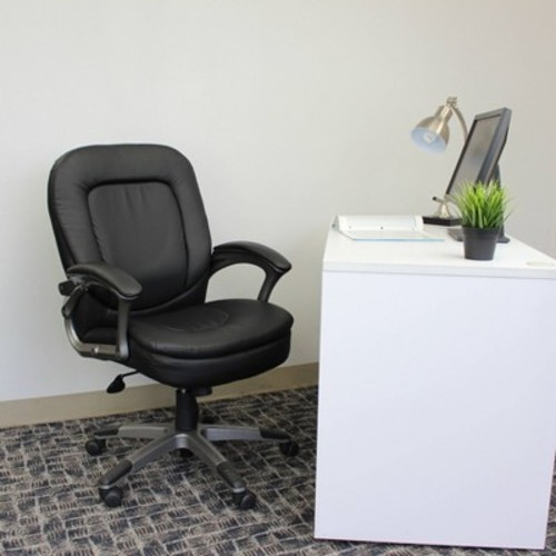 Executive Pillow Top Mid Back Chair Black - Boss Office Products