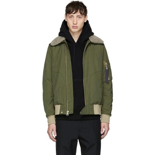RAG & BONE Green Flight Jacket