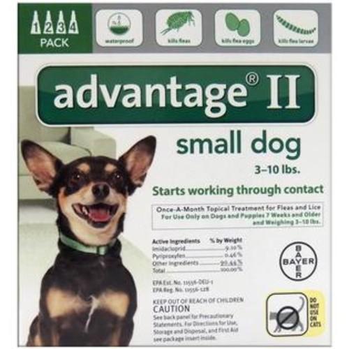 Bayer 81520240-AGD Advantage II Flea & Tick Drops, 0.056 Oz