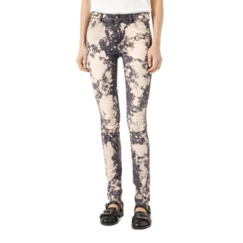 GUCCI Embroidered Stretch Denim Skinny Pants