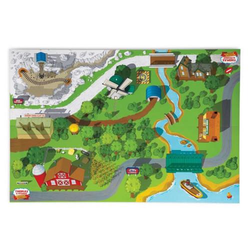 Fisher-Price Thomas the Train Wooden Railway Island of Sodor Playboard